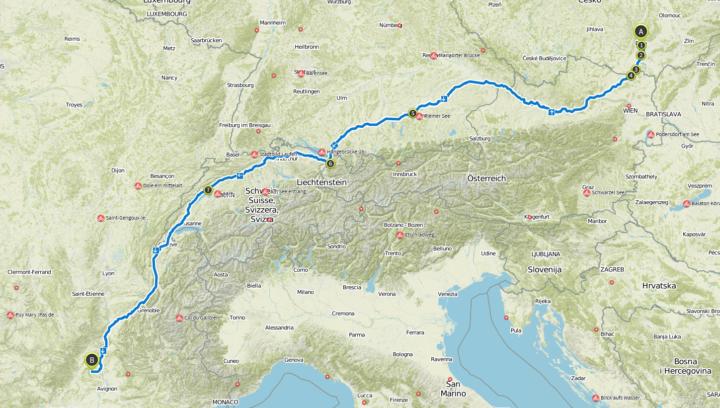 1700 KM / 1000 miles in one week.